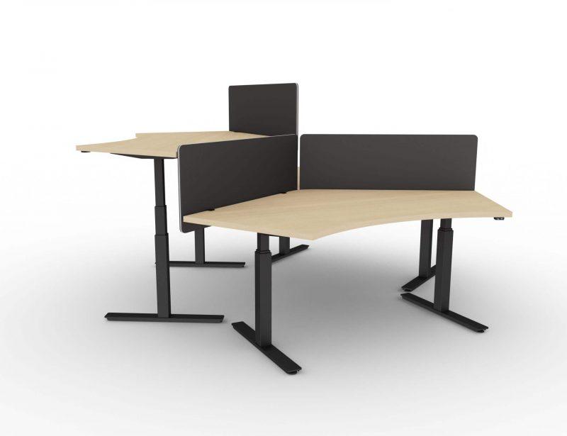 Winglet-Schreibtisch-fuer-3-Personen-elektrisch-hoehenverstellbar