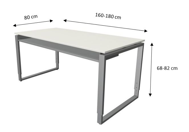 Abmessung-Valencia-Schreibtisch