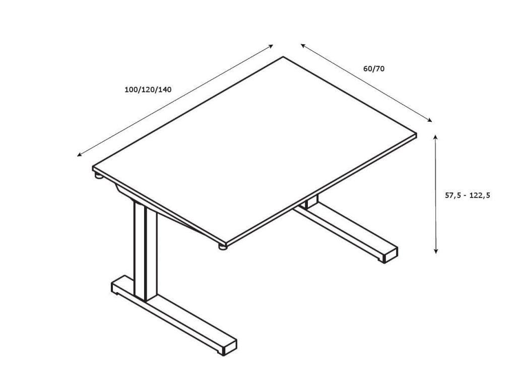 Schreibtisch-hoehenverstellbar-compact-drive_Abmessungen