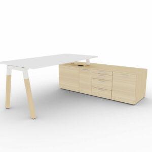 Chefschreibtisch-mit-Sideboard-Polare-Tischplatte-weiss