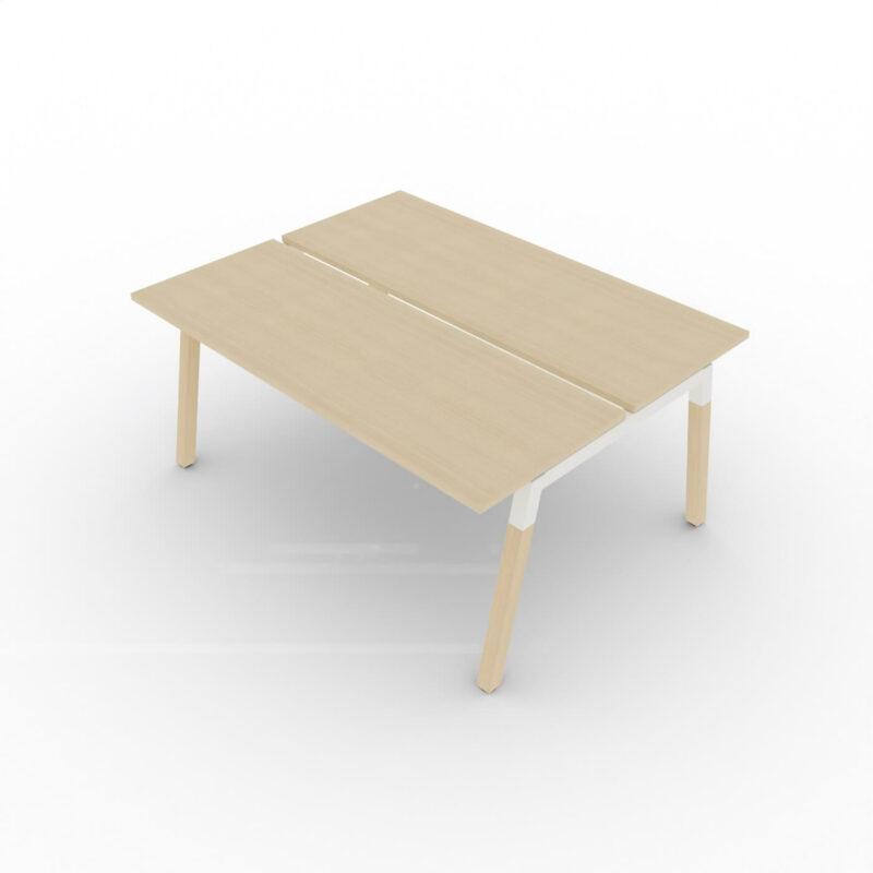 Doppelschreibtisch-Polare-Tischplatte-Eiche-natur