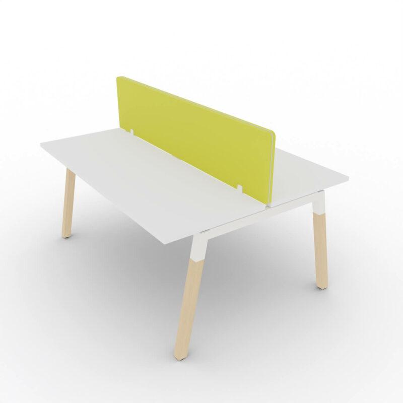 Doppelschreibtisch-Polare-Tischplatte-Weis-mit-Paneelen