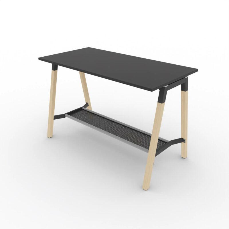 Hochtisch-Polare-Tischplatte-schwarz-mit-Taschenablage