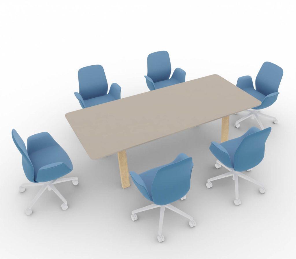 Konferenztisch-Take Off Country-Tischplatte-Tortora