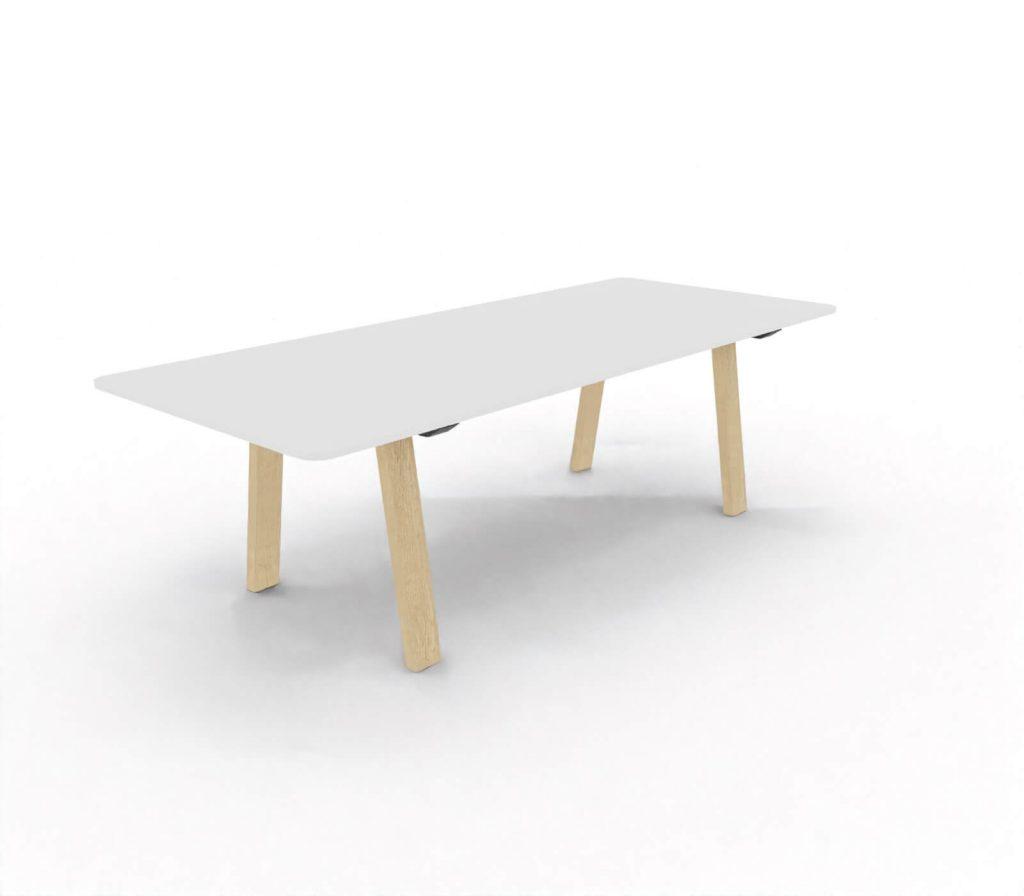 Konferenztisch-Take Off Country-Tischplatte-Weiss