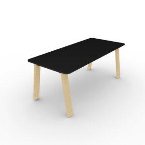 Schreibtisch-Take-Off-Country-Tischplatte-Schwarz
