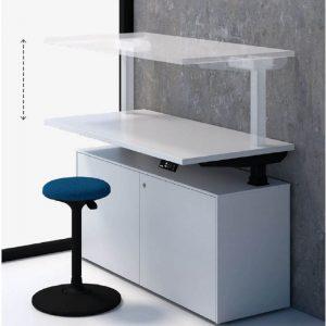 Homeoffice Steh-Sitz-Tisch-höhenverstellbar