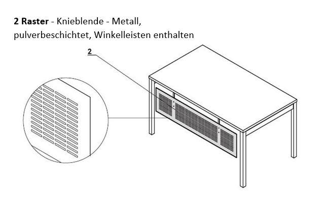 Raster-Knieraumblende-skizze