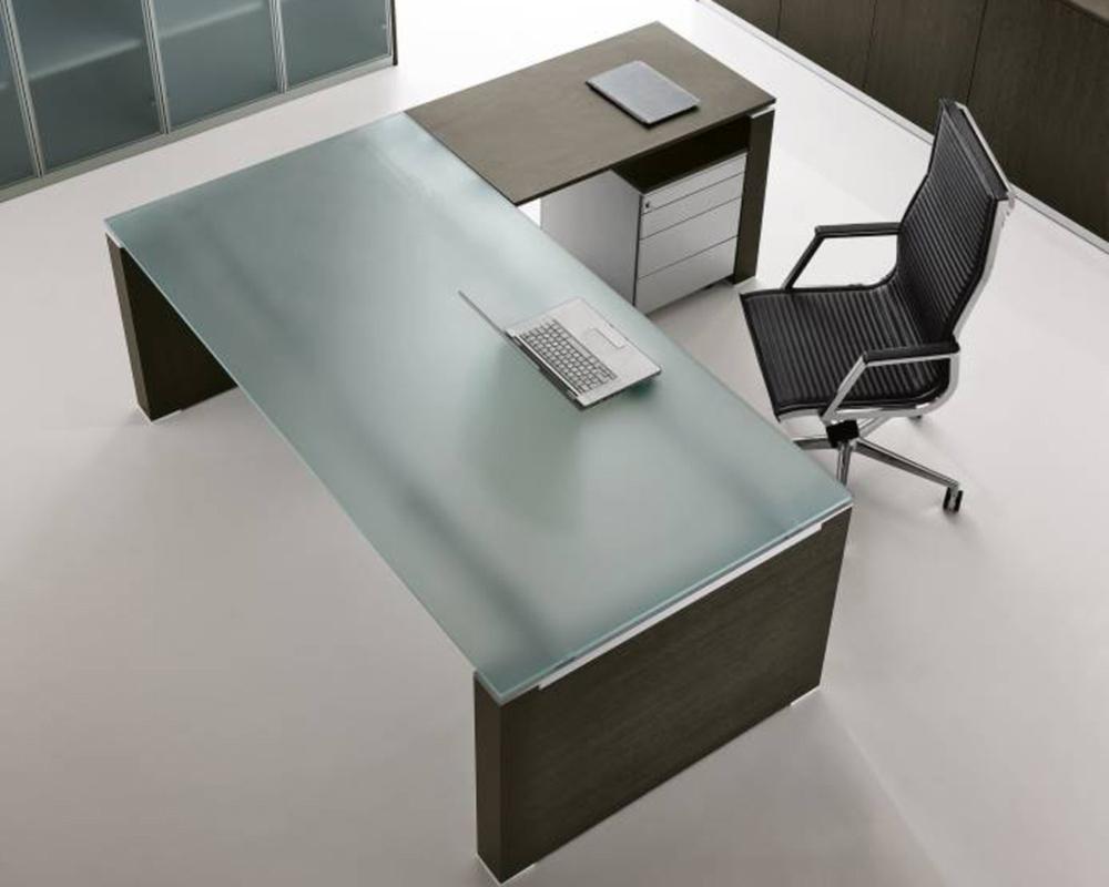 glas schreibtisch jet mit anbautisch klassiker direkt chefzimmer b rom bel funktionsm bel. Black Bedroom Furniture Sets. Home Design Ideas